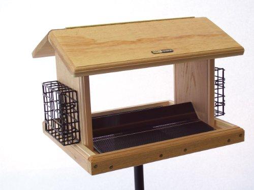 (Birds Choice Cedar 11 Quart 2-Sided Hopper with 2 Suet Cages)