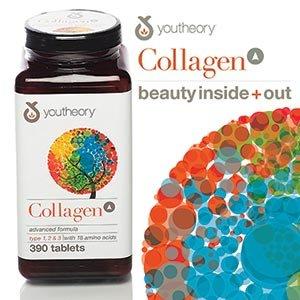 youtheoryTM collagène avancée formule de collagène de type 1, 2 & 3 avec 18 acides aminés 390 Comprimés