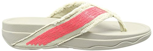 Fitflop Women's Surfa Sequin T-Bar Sandals Pink (Neon Pink) free shipping 2014 new cheap sale footlocker clearance big discount clearance footaction free shipping low price dSKIA