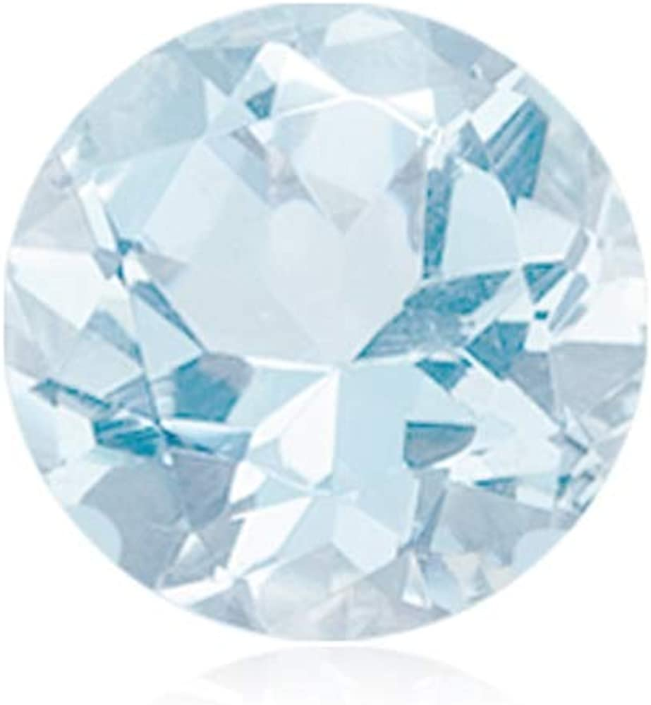 12mm Mysticdrop Natural Round Genuine Aquamarine AA Quality Loose Gemstone Available in 4mm