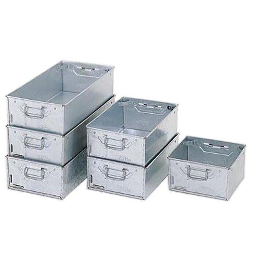 Action Handling ATP/1 Galvanised Tote Pan, Standard, 305 mm L x 305 mm W x 150 mm H, 25 kg Load Capacity (Pack of 4) Action Handling Equipment Ltd