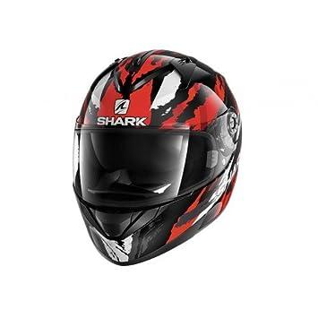 Shark Tiburón ridill Oxyd KRS cascos de motocicleta, color negro/rojo, talla L