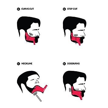 Peine plantilla barba hombre Bigwing estilo peine la barba herramienta de talla lítica - Accesorio de guía de afeitado para Contour la barba: Amazon.es: ...