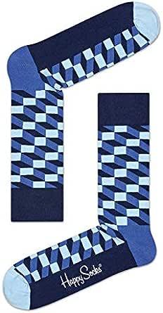 Happy Socks Unisex Filled Optic Sock, Multi, M/L