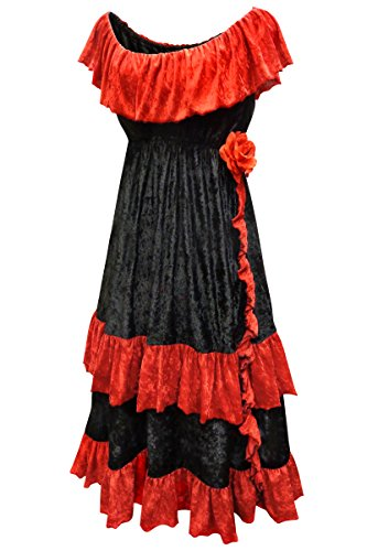 Dia de los Muertos Plus Size Halloween Costume Dress Only 4x ()