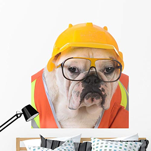 Wallmonkeys Working Dog Wall Decal Peel and Stick Animal Graphics (48 in H x 44 in W) WM146531 -