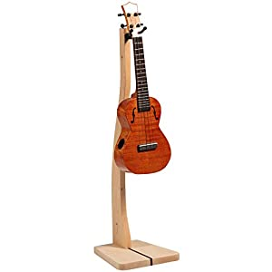 So There Wooden Ukulele Stand - Best Handcrafted Solid Maple Wood Floor Stands for Ukuleles & Mandolins, Made in USA by So There