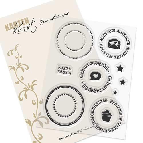 Clear Stamp Juego de sellos de goma - Tarjetas Artificial de ...