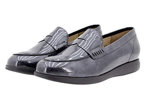 Cómodo Confort Ancho Mujer 9634 Piel Calzado Gris Mocasín Piesanto Zapato De q1f85wOx6