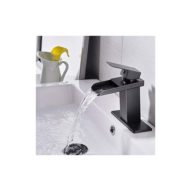 LED Oil Rubbed Bronze Bathroom Basin Sink Faucet Dual Handle Vanity Mixer Tap