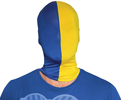 [Morphsuits Morphmask Team Colors Blue / Yellow, Blue / Yellow, One Size] (Yellow Morphsuit)