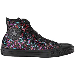 All Star Hi Textile Sequin Trainers