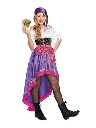 [SugarSugar Girls/Tween Gypsy Magic Costume, One Color, Large] (Little Girl Gypsy Costumes)
