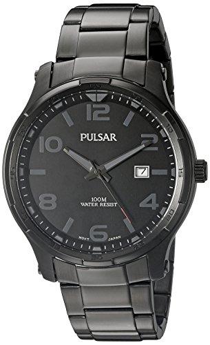 (Pulsar Men's PS9335 Dress Analog Display Japanese Quartz Black Watch)