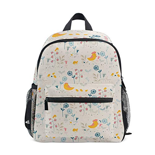 Floral Decorative Dragonfly Dute Children's double backpack cute animal cartoon backpack male baby girl from Leighhd Bevissd