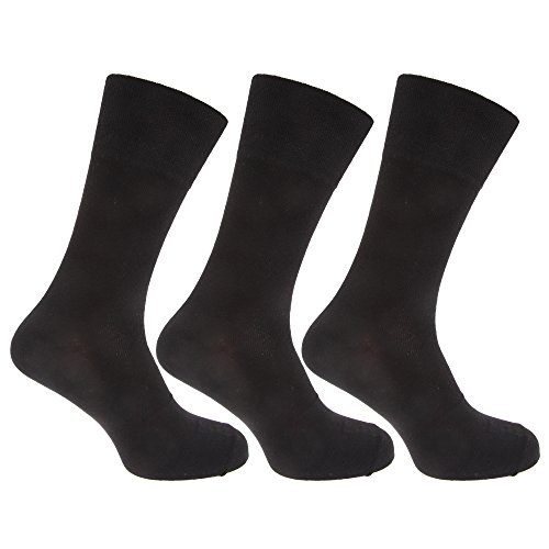 Pierre Roche Mens Comfort Fit Non Elastic Top Diabetic Socks (Pack Of 3) (US Shoe 7-12) - Usa Roca