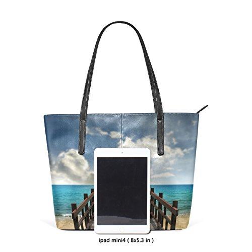 Mare Nel Pelle Per In Bag Borse Tracolla A Multicolore E Medio Borsa Ponte Pu Tropical Tote Donne Le Paesaggio Coosun tqnzSEZZ