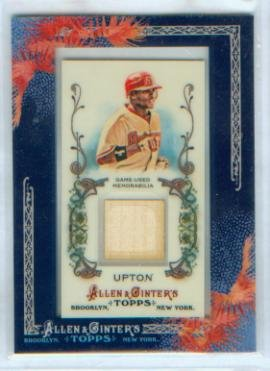 Justin Upton 2011 Topps Baseball Allen & Ginter's Game Used Bat Relic Card #AGR-JU / Arizona Diamondbacks D'Backs - Upton Game
