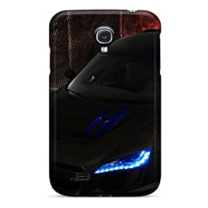 WNjzKBs2151kAYAJ Black Audi R8 Awesome High Quality Galaxy S4 Case Skin