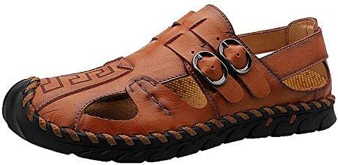 メンズサンダル ハイキングサンダルビーチウォータースポーツを歩く男性の快適なアスリートのためにスタイリッシュなハイキングアウトドア アウトドア防水靴 (Color : Brown, Size : 42)