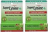 Super Lysine Plus Cold Sore Ointment-7g tube (.25 ounces (2 Pack))