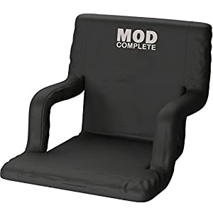 Wide Stadium Seat Chair for Bleachers or Benches - Enjoy Padded Cushion Backs and Armrest Support - 6 Reclining Custom Fit Sport Positions - Portable with Easy to Carry BackPack Straps from MOD Complete