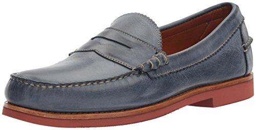 [Allen Edmonds Men's Sedona Penny Loafer, Navy Leather, 7.5 D US] (Dress Loafer Beef Roll)