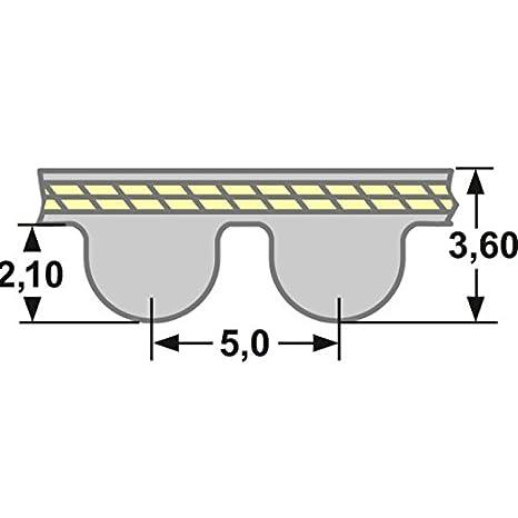 9 mm Breit Zahnriemen HTD 75 Zähne Timing Belt 375 5M