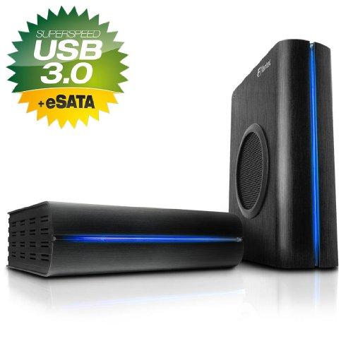 FANTEC 15645 DB-F8U3e externe Festplatte 4TB (8,9 cm (3,5 Zoll), 7200rpm, 64MB, SATA) schwarz
