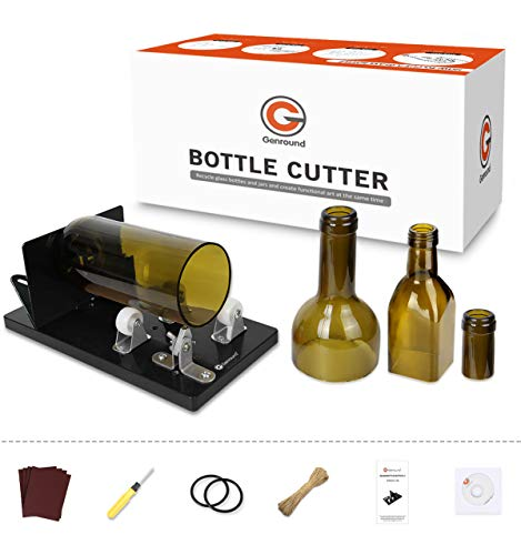 Bottle Cutter, Genround [2021 Upgrade 2.1] Glass Bottle Cutter Tool, Round/Square/Oval Glass Bottle Scoring Machine from…