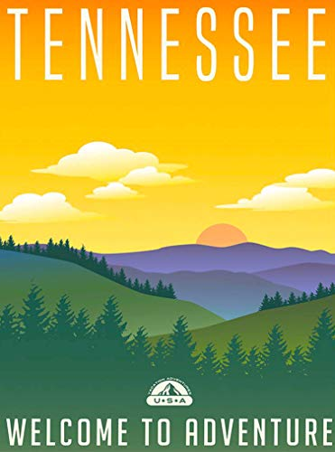 (A SLICE IN TIME Tennessee Welcome to Adventure Great Smoky Mountains Retro United States Travel Home Collectible Wall Decor Advertisement Art Deco Poster Print. 10 x 13.5)