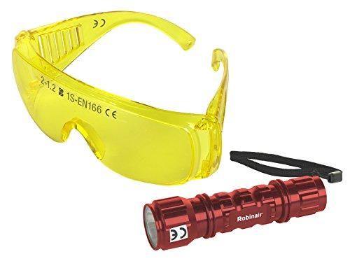 Robinair 16215 Ultra UV Leak Detection LED Light with UV Glasses by Robinair