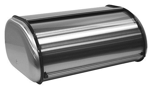 - ZUCCOR Fingerprint-Proof Brushed Stainless Steel Large Bread Box