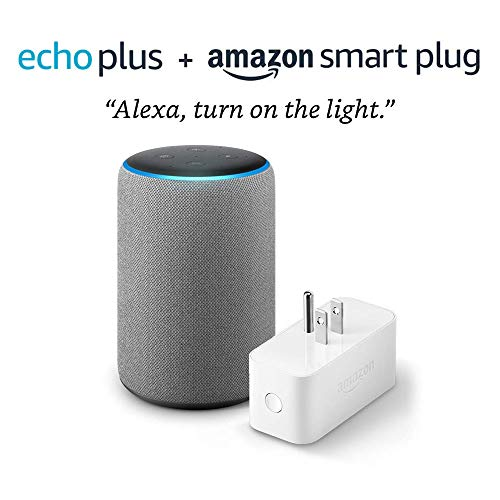 Echo Plus (2nd Generation) with Amazon Smart Plug – Heather Gray