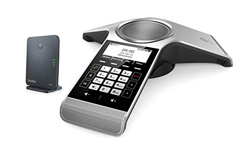 Yealink CP930W-Base Conference DECT IP Phone and Base Station, 3.1-Inch Graphical Display. Battery-powered (Phone Base Station)
