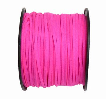 UnCommon Artistry Neon Pink Faux Leather Suede Necklace Cord 10 Feet Ultra Microfiber (Pink Suede Necklace)