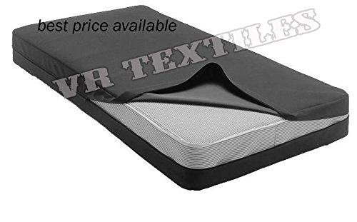VR Textiles Home Collection 14'' High 1 PC Egyptian cotton Zippered Mattress Cover/ Protector Size King Black