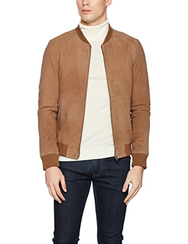 Homme Uomo Beige camel Giacca Shnmark Jacket Noos Suede Selected Bomber gnP7S6Pq