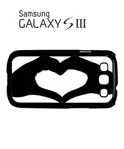 Heart Shaped Hand Mobile Cell Phone Case Samsung Galaxy S3 White