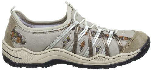 Silver Muschel L0563 Beige multi Oro Nebel Rieker Moro Sneakers 60 Damen azgxXdwqT