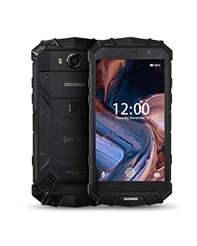 DOOGEE S60 Unlocked Rugged Smartphones, 4G Rugged Cell Phones Android 8.1, 5.2 inch 5580mAh, IP68 Waterproof Dropproof Octa-Core 4GB+32GB, 16.0MP+8.0MP Camera, Support NFC Wireless Charging, Black thumbnail