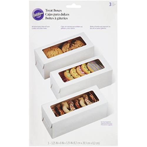 Wilton White Rectangle Boxes, 3 Count