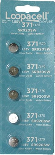 Loopacell 371/370 Silver Oxide Watch Battery (5 per Pack)