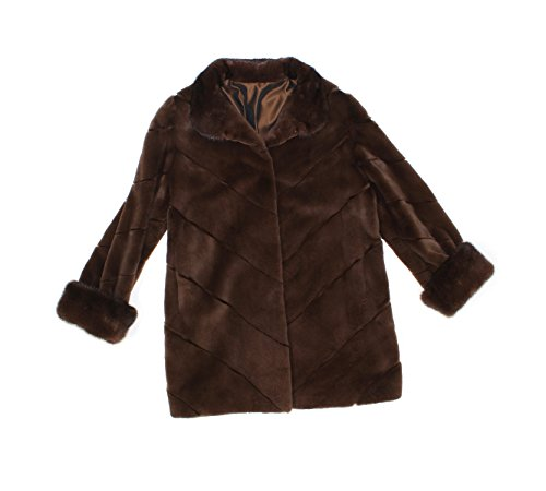 Bergama 716222 New Brown Sheared Mink Fur Reversible Stroller Coat Jacket 10