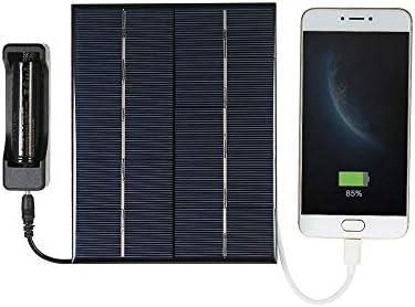 Galapara 3.5W 5V Solar Panel Battery Maintainer Polykristalline USB-Hafen 18650 Batterie Aufladen Solarmodul