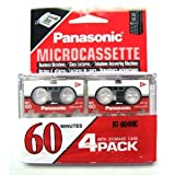 Panasonic Microcassette MC-60 4/pack