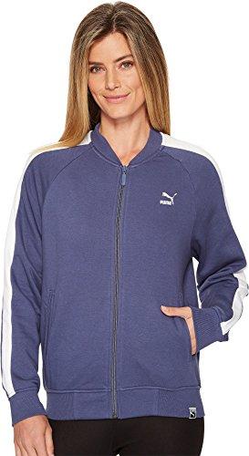 PUMA Women's Classics Logo T7 Track Jacket, Blue Indigo, - Jacket Blue Womens Track