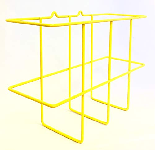 Binder Display Rack/MSDS Display Rack, Wire Rack, MSDS and SDS Station Sign, Mounting Hardware Included, Wire Coated with Bright Yellow PVC