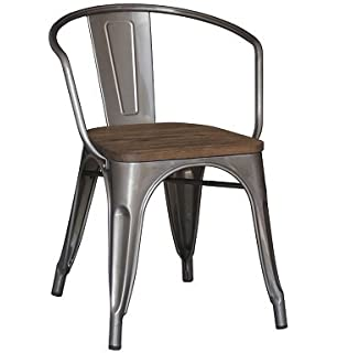 silla madera y metal