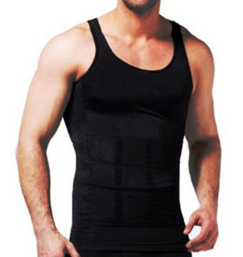 Price comparison product image Body Shaper Slimming Compression Support Undershirt for Men (2 pack) (Large,  Black)